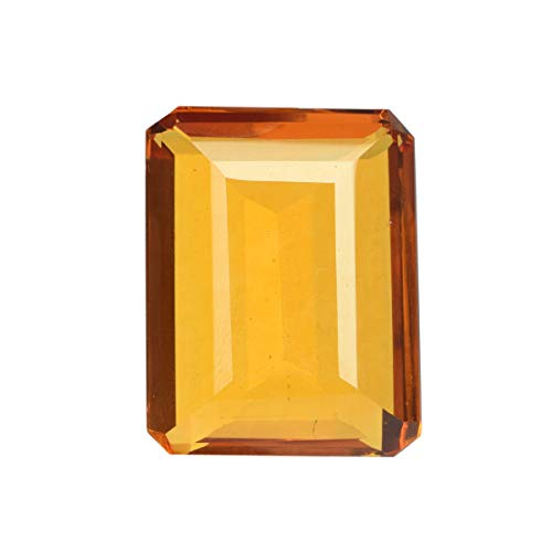 Brazilian Yellow Citrine 125.50 Ct Loose Gemstone Finest Emerald Cut Yellow Citrine for Pendant
