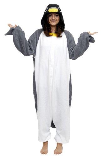 SAZAC Halloween Penguin Onesie Costumes (Adults XL, Penguin)
