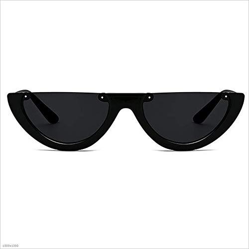 Party De Rétro Noir Semi Noir Punk Style Protection Beach Lunettes De Soleil Vacances UV Pêche Couleur Conduite Femmes pour sans Uw6Uqrx7
