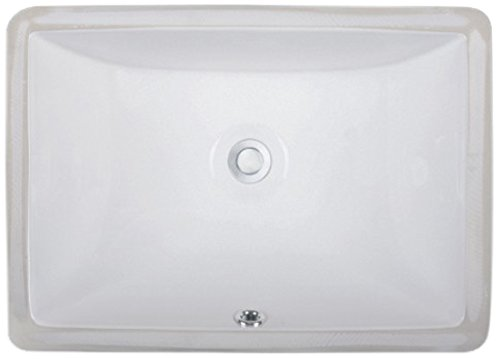 Wells Sinkware Rectangular Vitreous Ceramic Lavatory Single Bowl Undermount White 20 x 15 x 6