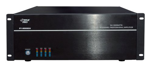 Pyle - Home Speaker Durable Audio & Video Component Amplifier (PT8000CH)