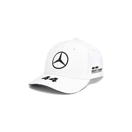 1f154cea364f5 Mercedes-AMG Petronas Motorsport 2019 F1TM Lewis Hamilton Cap (White)   Amazon.co.uk  Sports   Outdoors