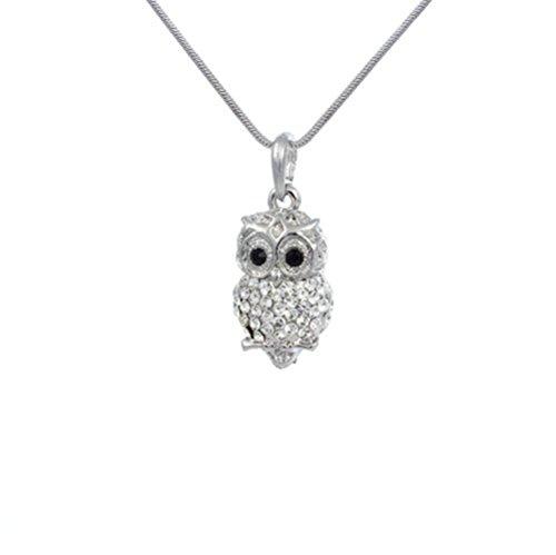 Owl Charm Pendant Necklace