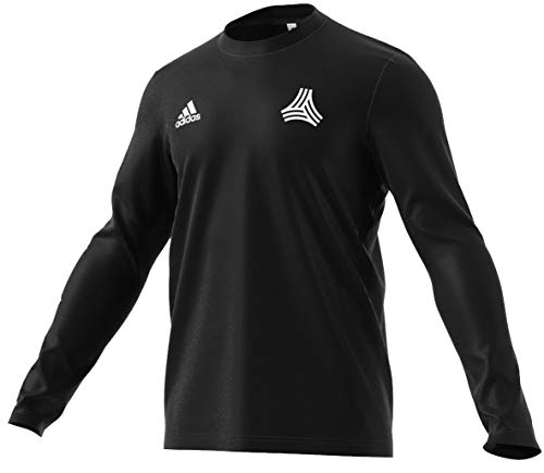 adidas Men's Soccer Tango Graphic Cotton Long Sleeve Jersey Tee (Large, Black)