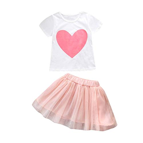 Kehen Mom Daughter Matching Outfits Parent-Child Shirt Tutu Skirt Family Clothes Outfits Matching Dress (Girl,4T)