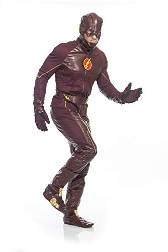 Charades DC Comics The Flash Deluxe  Adult Costume, As Shown, Medium ()