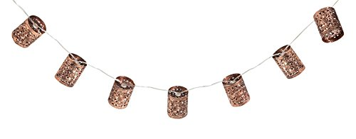 Outdoor Lantern String Lights Bronze - 8