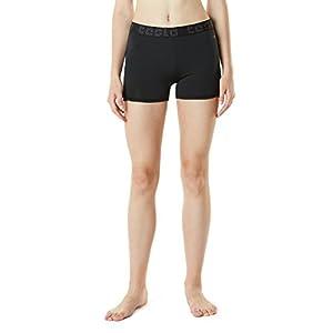 """TM-FUS07-BLK_Large Tesla Women's Active Shorts 3""""5 Workout Running Gym FUS07"""