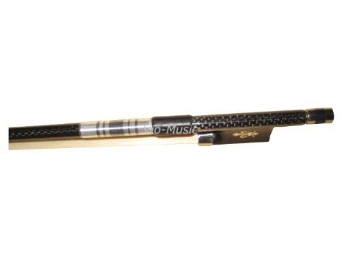 Top Braided Carbon Fiber Violin Bow 4/4, Fluer-de-lys Inlay Ebony Frog