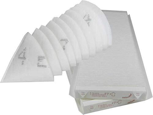 Original ZEHNDER Filtro Set adatto per comfoair Q350/450TR (Q350/450/600) 2X Filtro F7+ 10X Alternative cono Filtro DN 125 Sparhai24