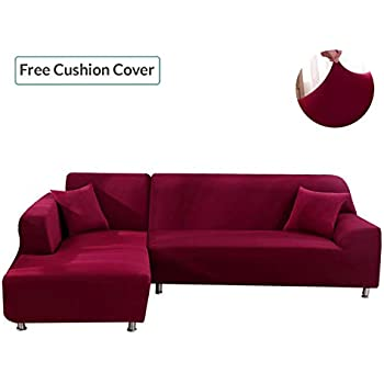 Amazon.com: Sectional Sofa Cover - Sectional Couch Covers ...