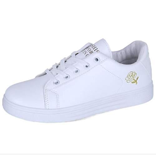 Mujer Poliuretano Gold Cerrado Zapatos Zapatillas Primavera Talón PU Planas Blanco Confort Negro de Oro ZHZNVX Verano xEIHgqx