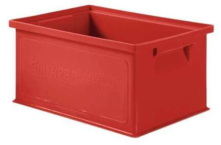 Solid Wall Stacking Container, 13x9x6xRed (Schaefer Organizer)