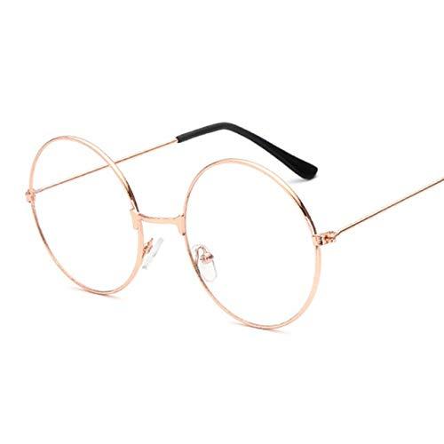 Tianzhiyi Fashion elegant Unisex Aviator Style Eyeglasses Metal Frame Clear lens Vintage Glasses Retro Plain Spectacles Eyewear for Men and Women Silver
