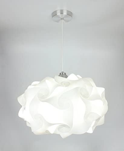EQLight PP4L01 Cloud Light Contemporary Pendant, White, Large