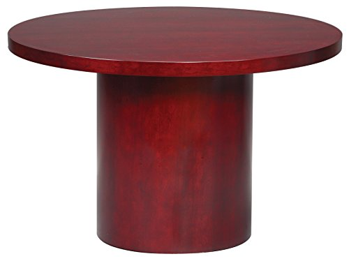 GOF Office Round Conference Table, 48 inch, Mahogany