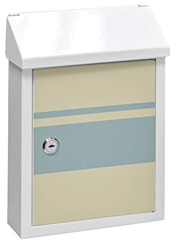 Arregui-Smart-Graphic-E5721-STR-Buzon-Individual-de-Acero-con-serigrafia-decorativa-Lines-buzon-o-recogecartas-tamano-S-DIN-A5-blanco