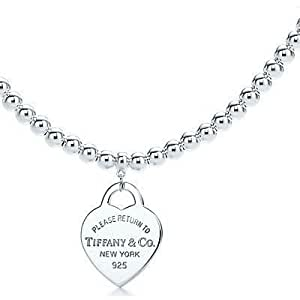 Tiffany And Co Necklace Return To Bead Silver 076