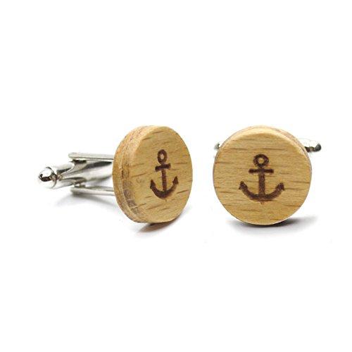 Gemelos madera Anchor. Colección de moda hombre: Gemelos de madera ...