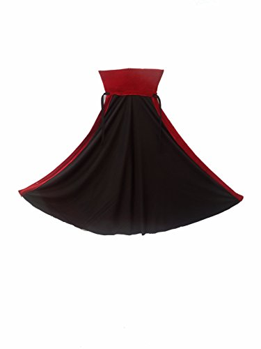 Kaku Fancy Dresses Vampire Dracula Cape Halloween Costume/California/Cosplay Red & Black Full Size Kids Fancy Dress