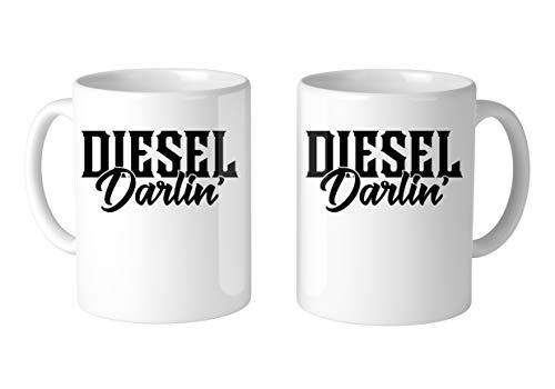 (SpiritForged Apparel Diesel Darlin' 11oz White Coffee Mug (2)