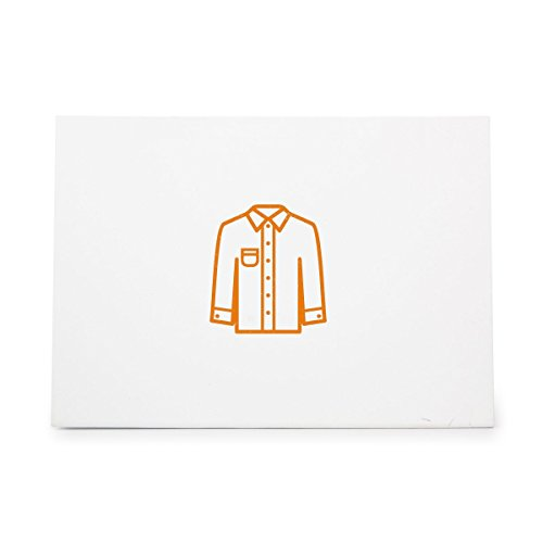 Dress Shirt Garment Garments Gear Style 9500, Rubber Stamp Shape great for Scrapbooking, Crafts, Card Making, Ink Stamping Crafts