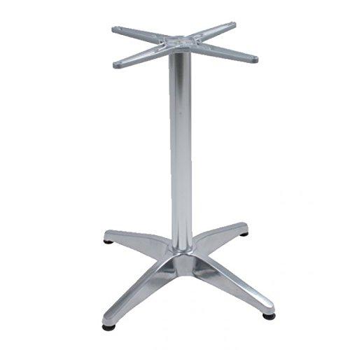 BRENTA Tischgestell Bistrotisch Alu Tisch Gestell 4-Fuß (1) Gastronomie Tische Gestelle