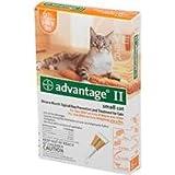 ADVANTAGE 2 CAT, Color: ORANGE; Size: 0-10POUND/4PACK (Catalog Category: Cat:FLEA AND TICK), My Pet Supplies