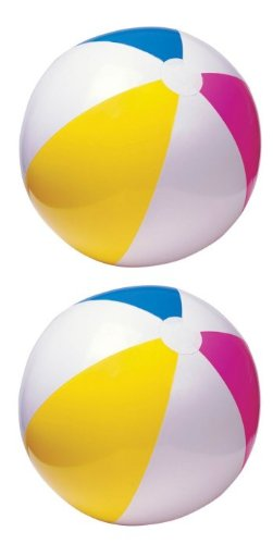 Intex - 59030EP Inflatable Beach Ball (24 Inches), (Assorted Colors), (2-Pack) ()