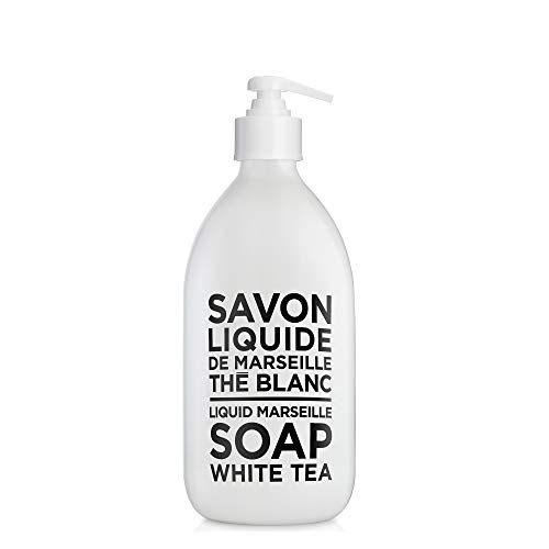 Liquid Marseille Soap White Tea 16.9oz Glass Bottle