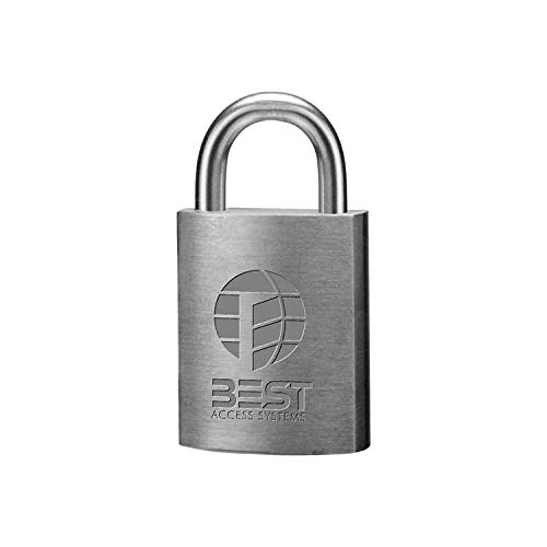 BEST Access Systems 21B72L Padlock (core is not included), Stainless Steel Shackle, Brass Body, 3/4