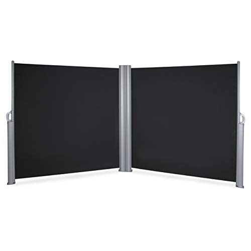 Belleze Retractable Double Folding Side Awning Screen Fence Patio Privacy Divider (19.6' x 5.2' ft), ()