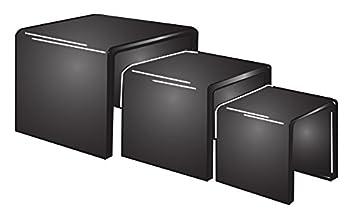 FixtureDisplays 5 6 7 Black Acrylic Display Risers – 1 8 Thick 20005