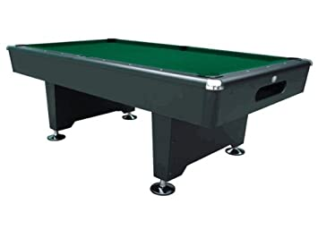 Playcraft Black Knight 8 Foot Pool/ Billiards Table Drop Pocket Green Felt