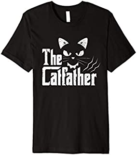Catfather Cat Father funny Cats Dad Movie Daddy Premium T-shirt | Size S - 5XL