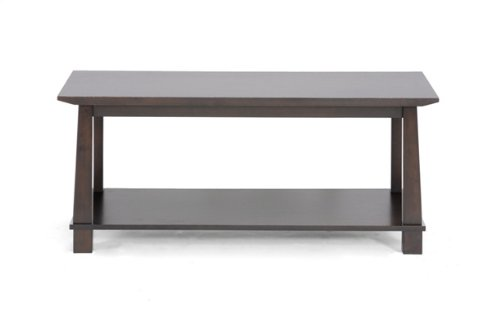Baxton Studio Havana Wood Modern Coffee Table, Brown - Wood Traditional Coffee Table