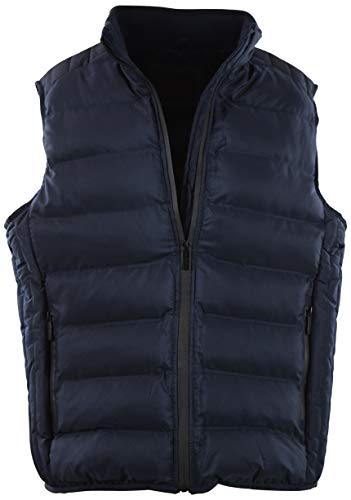 ChoiceApparel Mens Basic Padded Windbreaker Puffer Vests (Many Styles to Choose from) (M, - Reversible Vest Fleece