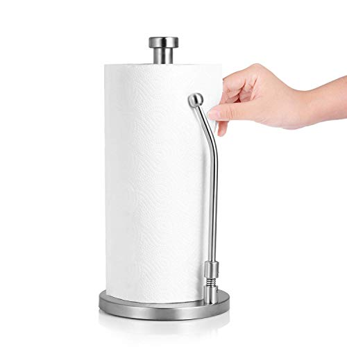 - LLJEkieee 1PC Paper Towel Holder Stand, Stainless Steel Simply Tear Standing Tissue Holder Holder Brushed for Kitchen, Bedroom, Bathroom Countertop