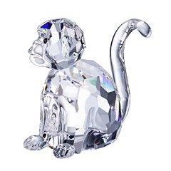 Authentic Swarovski Crystal Figurine: Small Monkey - Zodiac Collection No.289901 - Crystal Monkey