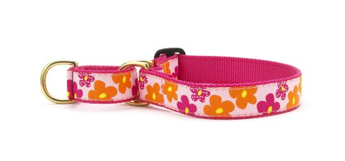 Flower Power Martingale Dog Collar - Small (12-17.5 Inches) - 5/8 In Width
