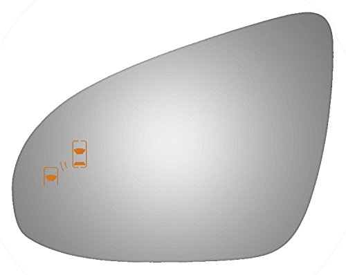 Toyota Avalon Mirror Power Drivers (2012-2016 TOYOTA AVALON, 2012-2014 TOYOTA CAMRY Driver Side Power Replacement Mirror Glass with Lasered Holes to use with Factory Blind Spot Detector)