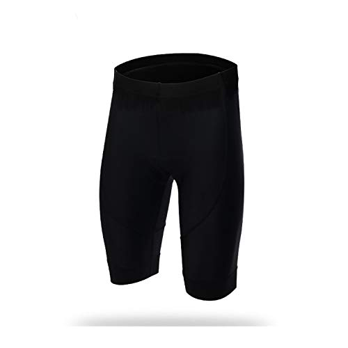 Lanlana Cycling Shorts Men Women 3D Padded Tights Comfortable Breathable Underwear 5-Colors,Black,S