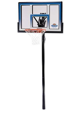 Lifetime 90020 Height Adjustable In Ground Basketball System, 48 Inch Shatterproof Backboard