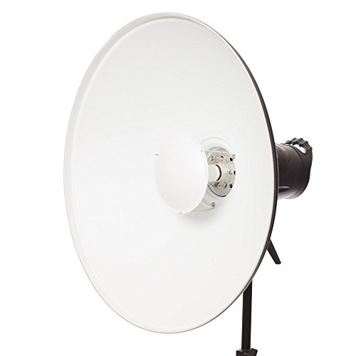 Fovitec StudioPRO Photography Strobe Lighting Monolight Beauty Dish 22'' Kit w Honeycomb Grid Bowens Speedring by Fovitec