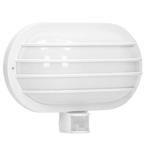 Orno Solano E27 Buitenlamp met Bewegingsmelder tot 60W IP44 Waterdicht (Gloeilamp Apart aan te Schaffen) (Wit)