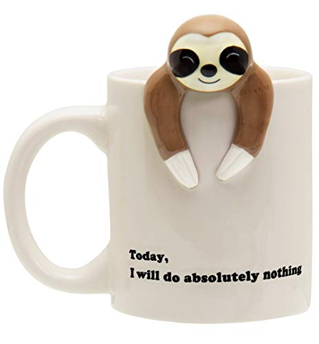 Decodyne Sloth Lazy Funny Coffee Mug, Funny Gifts for Women and Men 12 oz. (Shaped Sloth Candy)