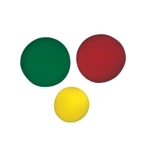 CanDo 10-0779-12  Memory Foam Ball Exerciser Set, Yellow/Green/Red by Cando