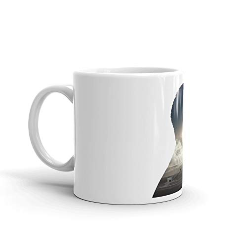 (Elon Musk Launch Silhouette. 11 Oz Fine Ceramic Mug With Flawless Glaze Finish. 11 Oz Ceramic Glossy Gift For Coffee Lovers Quote Mug Gifts For Men & Women)