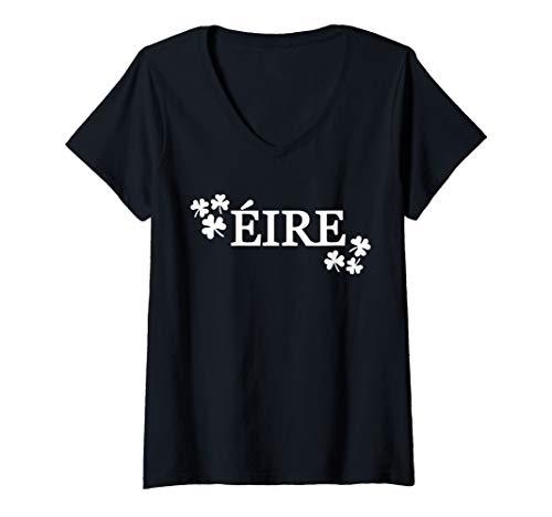 Womens Eire Ireland V-Neck T-Shirt