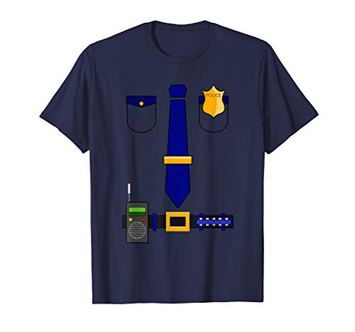 Police Uniform Costume Halloween Officer Shirt -